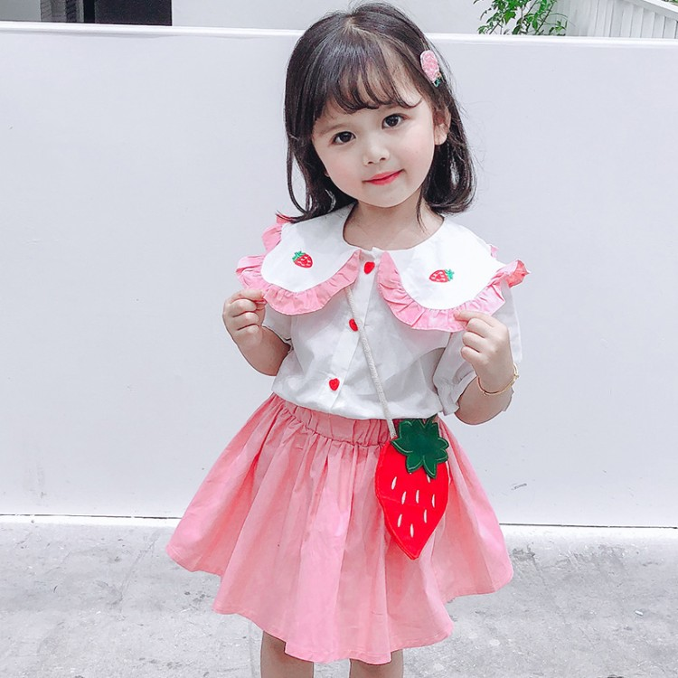 女童草梅套裙  童装货源 直播拿货 到织里儿童网 一件批发代发