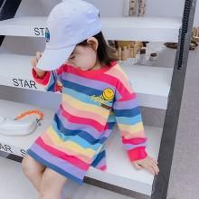 笑脸彩虹卫衣裙