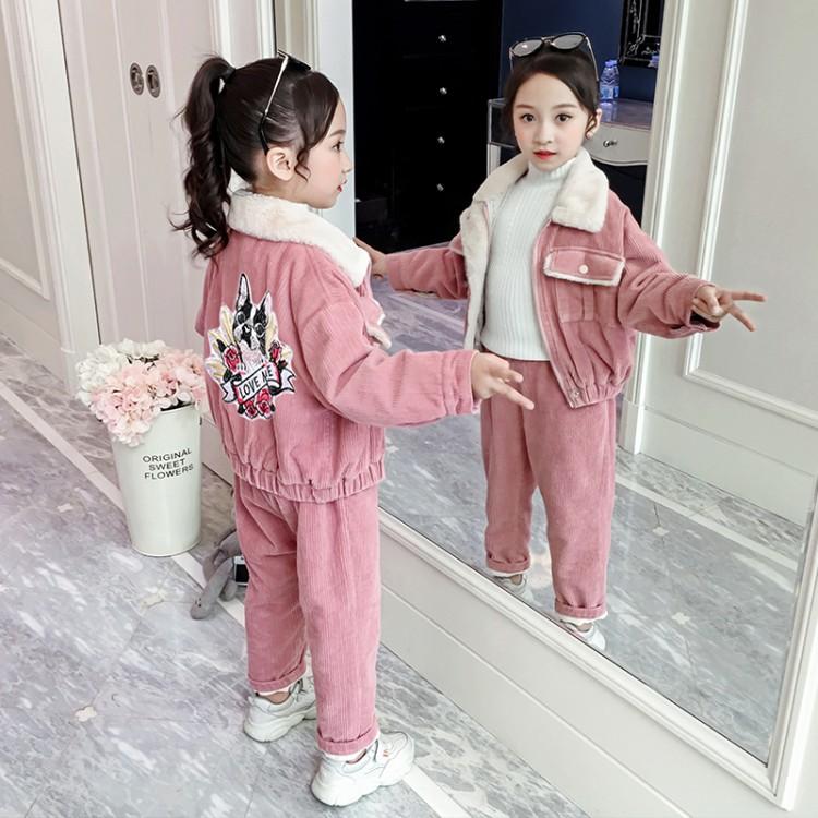 三色灯芯绒加厚套装1织里童装 微商拿货 直播带货 一件代发