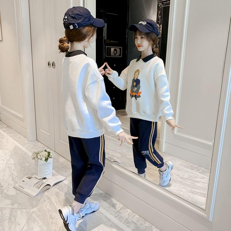 加绒加厚美女套装 童装一件代发 直播带货 微商拿货 织里儿童网