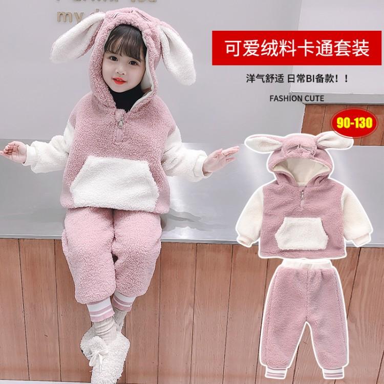 卡通兔子毛毛衣 童装货源 直播拿货 到织里儿童网 一件批发代发
