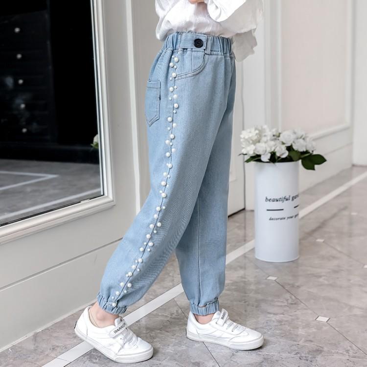钉珠牛仔裤 童装一件代发 直播带货 微商拿货 织里儿童网