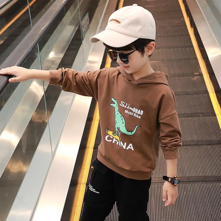 男童恐龙卫衣 童装厂家 一手货源 地摊货源批发 一件代发