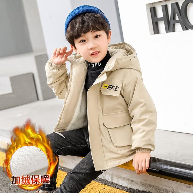 男童中大童2020冬款加绒外套  童装厂家 一手货源 一件也批发