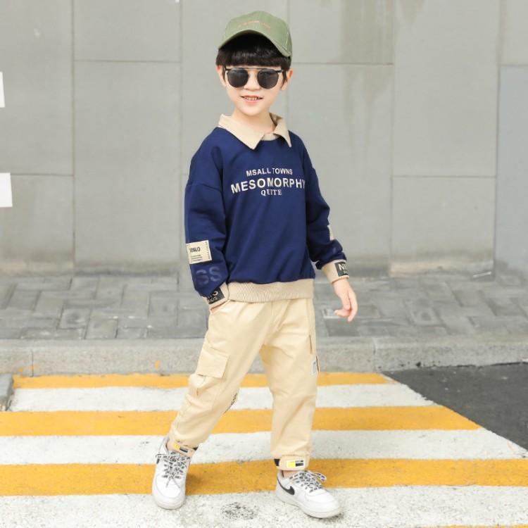 童装男童秋季套装2020新款中大童小男孩休闲韩版卫衣两件套