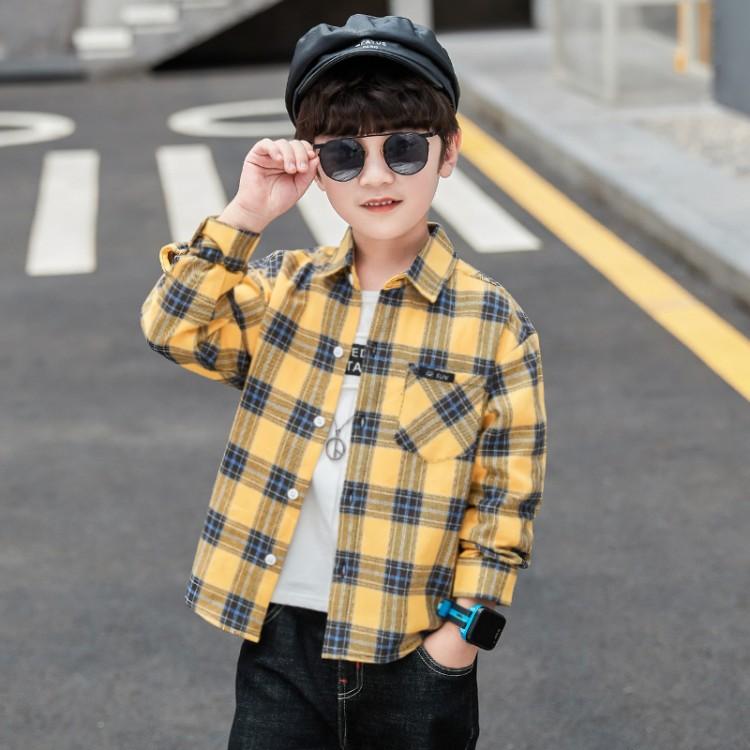 男童格子衬衫 品牌童装货源加盟代理 厂家直销 微商直播拿货 一件批发代发