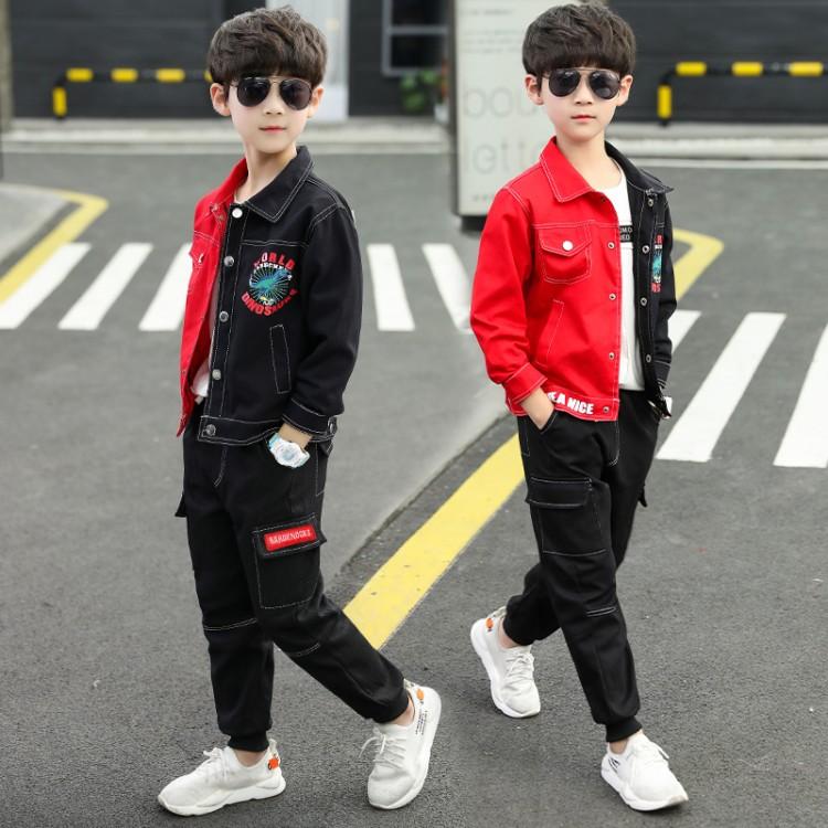 童装男童春秋套装2020新款中大童儿童两件套套装