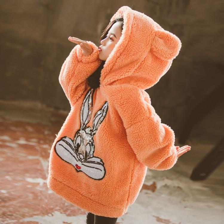 女童兔字加厚毛毛 厂家童装批发 一手货源 物美价廉 到织里儿童网
