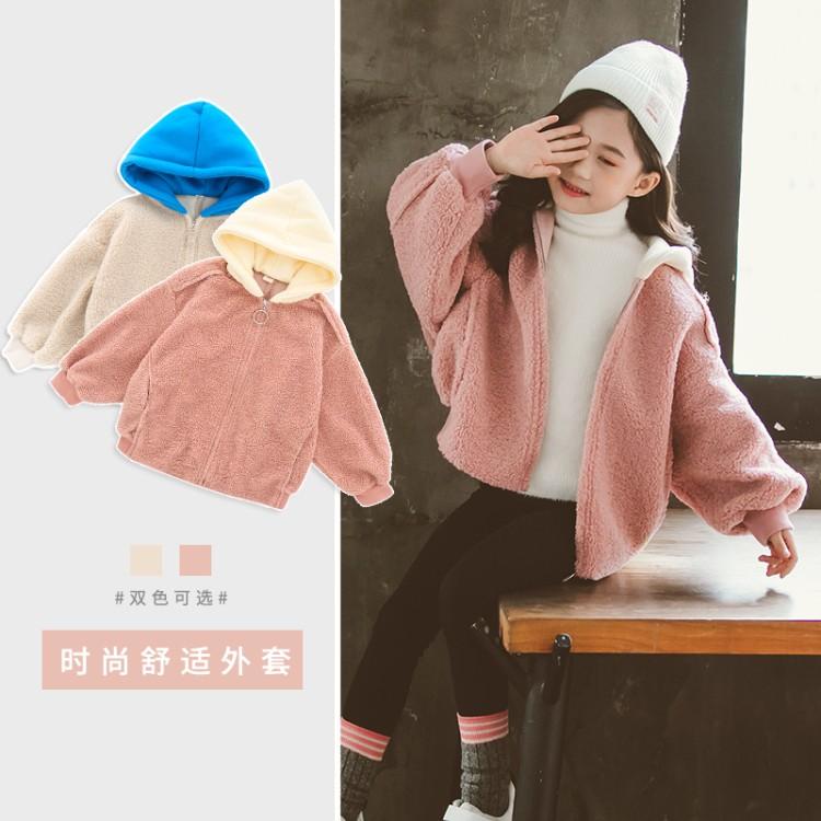 女童拼帽毛毛衣复古景  童装批发货源 到织里儿童网 一手货源一件批发