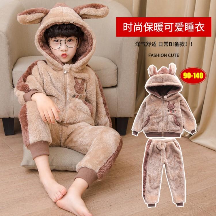 男童睡衣毛毛衣套装 童装厂家 一手货源 地摊货源批发 一件代发