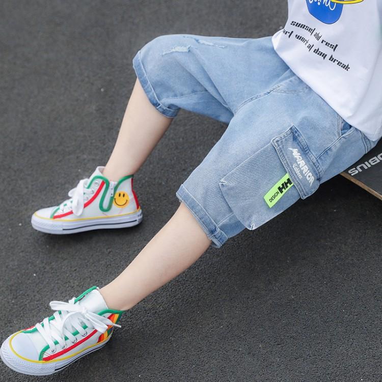 男童夏装儿童牛仔中裤