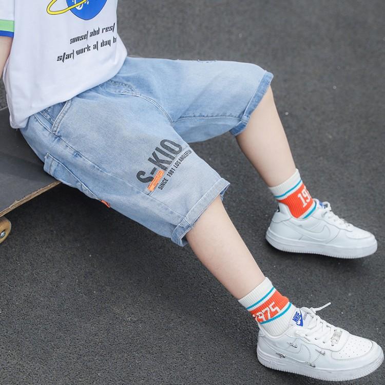 男童装儿童夏装牛仔中裤