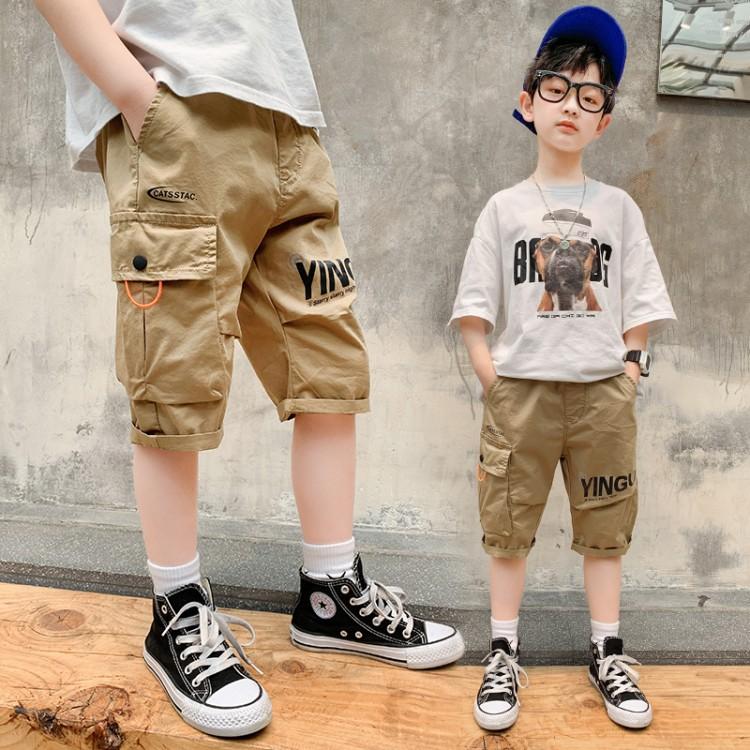 男童工装五分裤