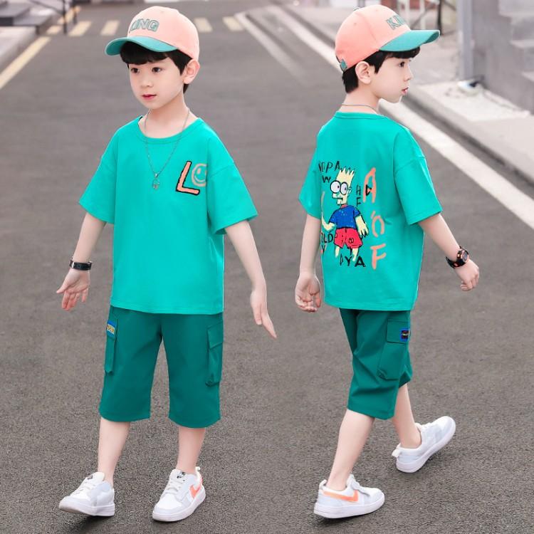 男童夏装套装2021新款夏季两件套潮