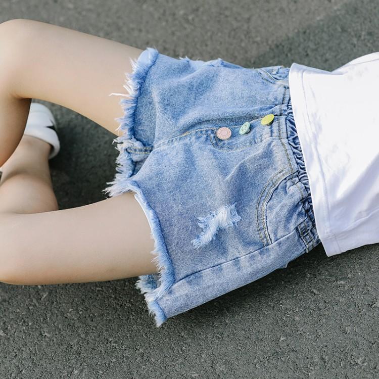 彩虹扣短裤