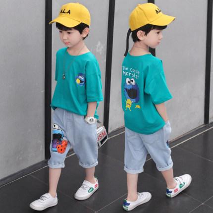 男童中大童牛仔套装