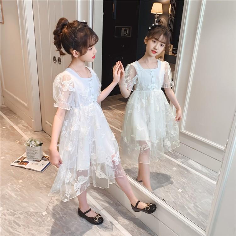 女童立体蝴蝶公主裙