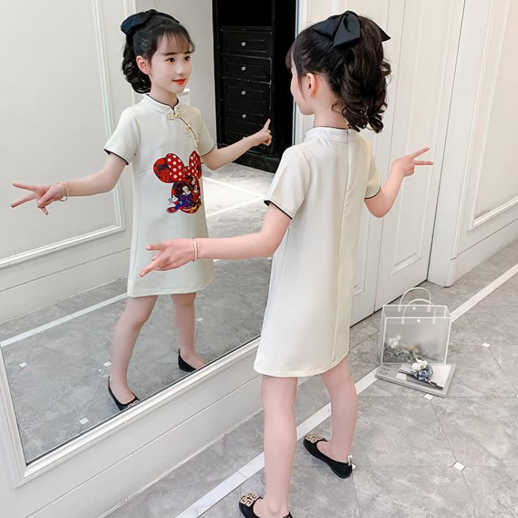 女童卡通旗袍裙