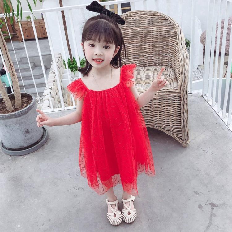 女童亮片纱裙