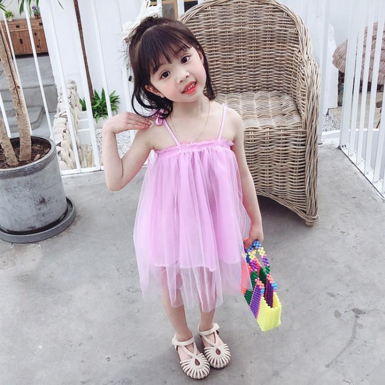 女童系带纱裙