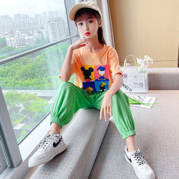 女童夏款三色套装