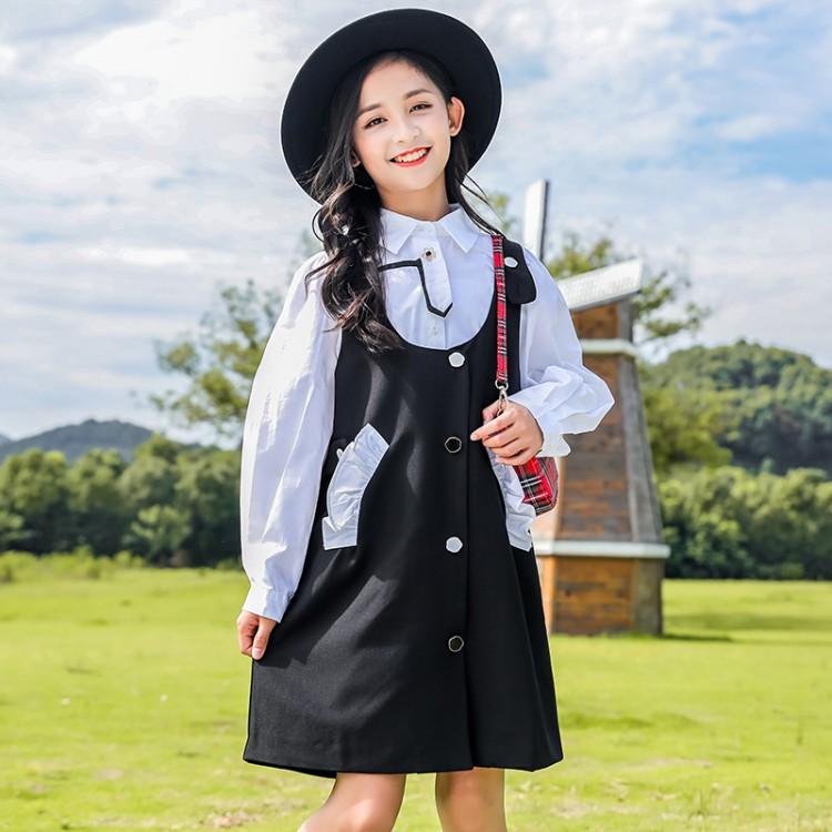 女童秋装套装2021新款洋气儿童时髦小香风套裙大童春秋网红两件套