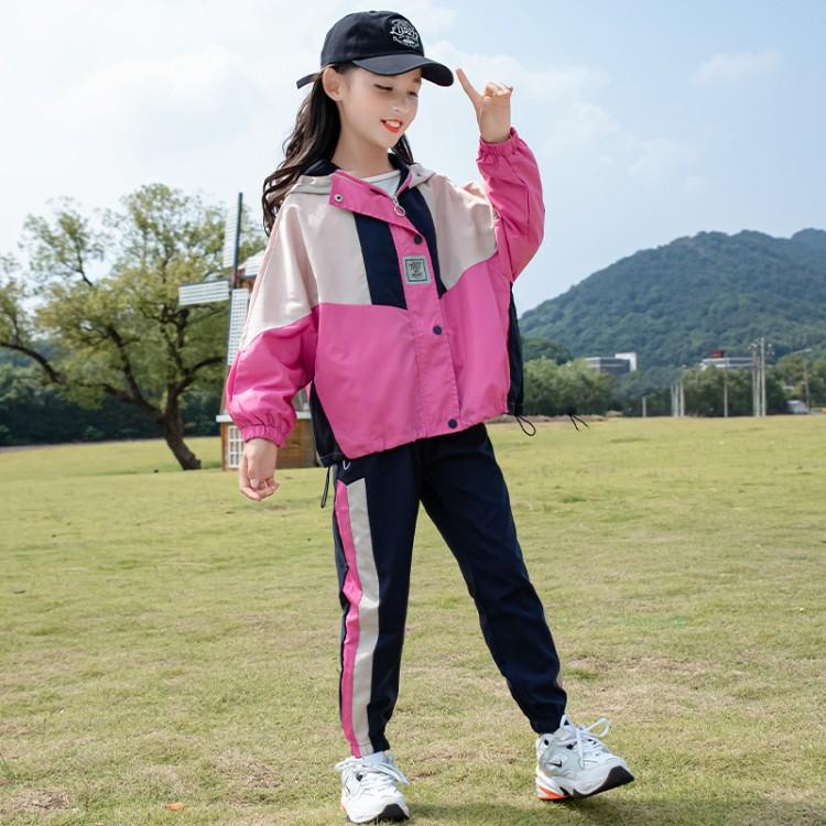 女童套装秋装2021新款洋气春秋季中大儿童网红洋气女孩运动两件套