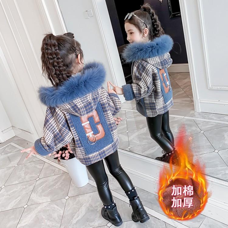 女童毛呢外套