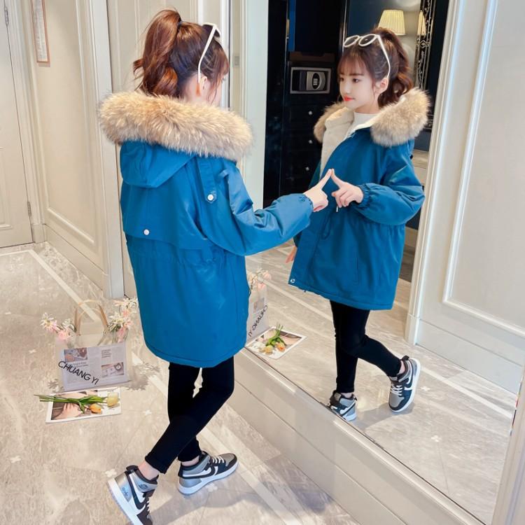 女童棉衣外套加绒冬装