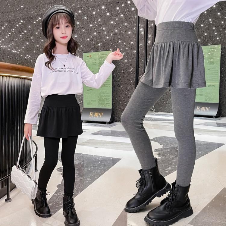 女童假两件打底裤