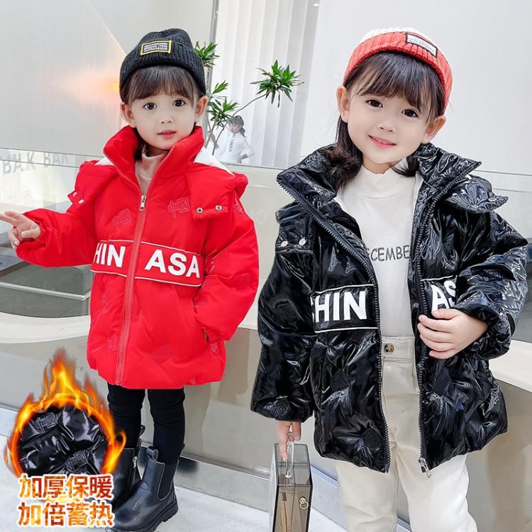 中国卡绳压花棉衣女童